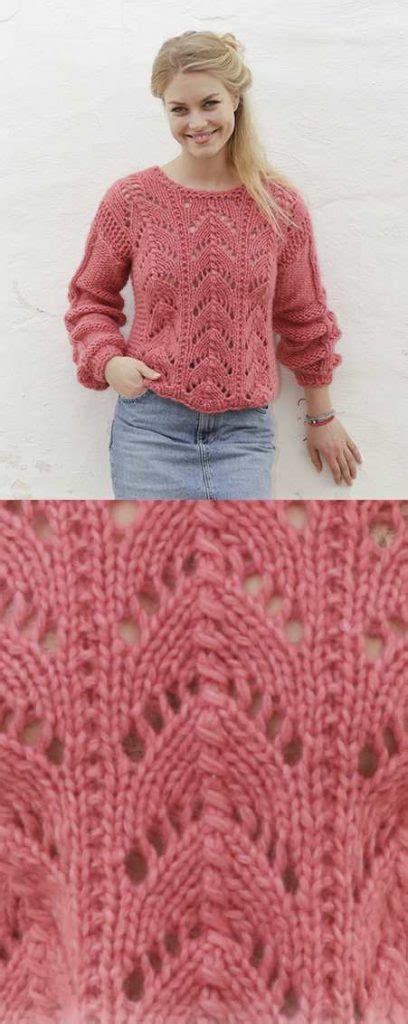 knitting pattern lace jumper blushing beauty lace sweater free knitting pattern