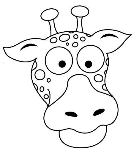giraffe face coloring pages free coloring pages of giraffe mask