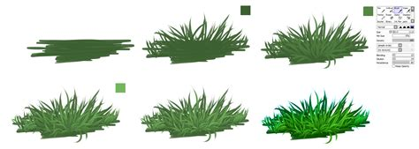 paint tool sai grass tutorial grass easy tutorial by ryky on deviantart