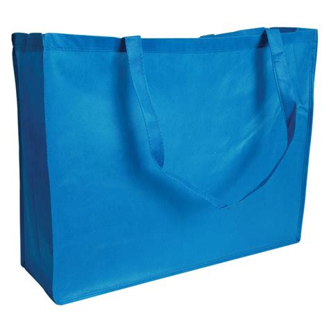 Pp Aqua bagsandbows free shipping on orders of 250 pp non woven carry bag aqua 16x 6x 12