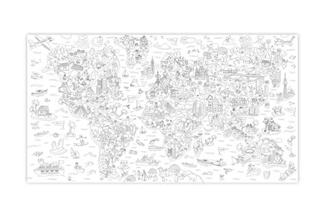 Playtime Didactic Atlas Giant Coloring Poster Coloring Posters