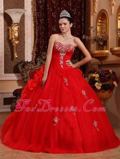 design quinceanera dress sweetheart appliques quinceanera dress organza designer red