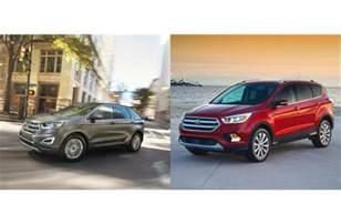 Ford Escape Vs Ford Edge 2017 Ford Edge Vs 2017 Ford Escape To U S News World Report