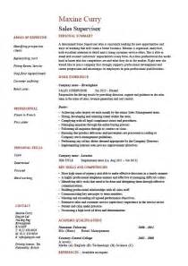resume for supervisor position sle resume template for supervisor position 45 images