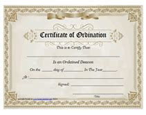 ordination certificate templates free search results for certificate of ordination deacon