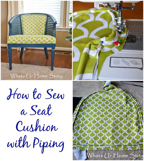 how to make a bench cushion with piping how to sew a seat cushion with piping whats ur home story