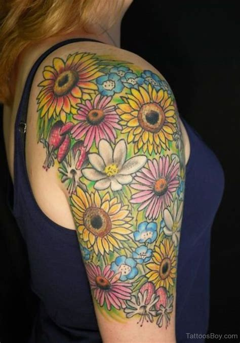 sunflower sleeve tattoo flower tattoos designs pictures page 38