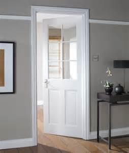 Avesta 6 lite primed clear glazed internal door nat26ad6ptg white