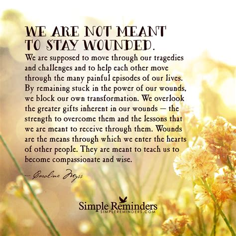 to heal a wounded the transformative power of buddhism and psychotherapy in books we are not meant to stay wounded by caroline myss