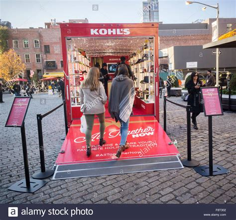 kohls christmas gifts kohl s department store presented its pop up trailer promoting stock photo royalty free image