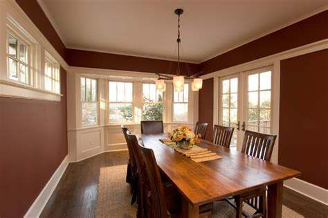 Dining Room Entrance Trim Dining Room With White Trim Bay Window And
