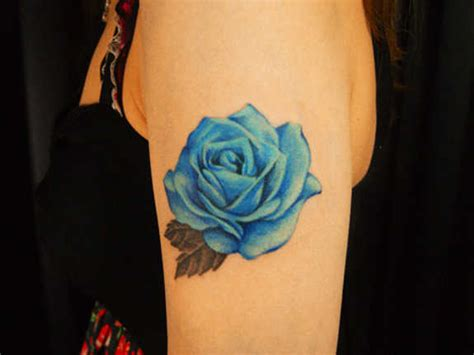 blue roses tattoo meaning 37 exclusive blue tattoos and designs