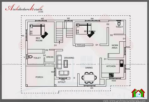 Simple Four Bedroom House Plans by 700 Sqft Plan And Elevation For Middle Class Family