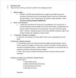 speech templates persuasive speech outline template 9 free sle