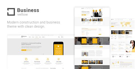themeforest keynote templates yellow business construction theme for industrial