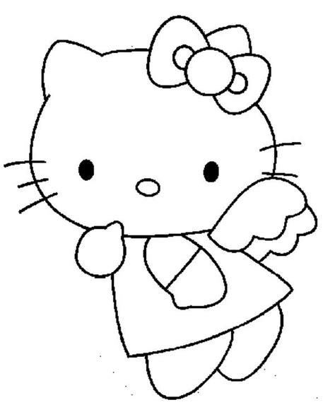 hello kitty angel coloring pages 19 best images about hello kitty coloring pages on