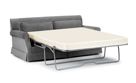Fold Out Sleeper Sofa Loveseat Sleeper Sofa With Gray Fabric Cover And Fold Out Bed White Memory Foam Mattress