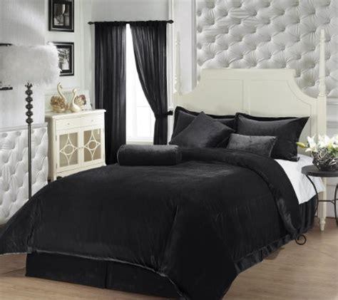 black velvet comforter chezmoi collection 7 piece luxury solid black soft velvet