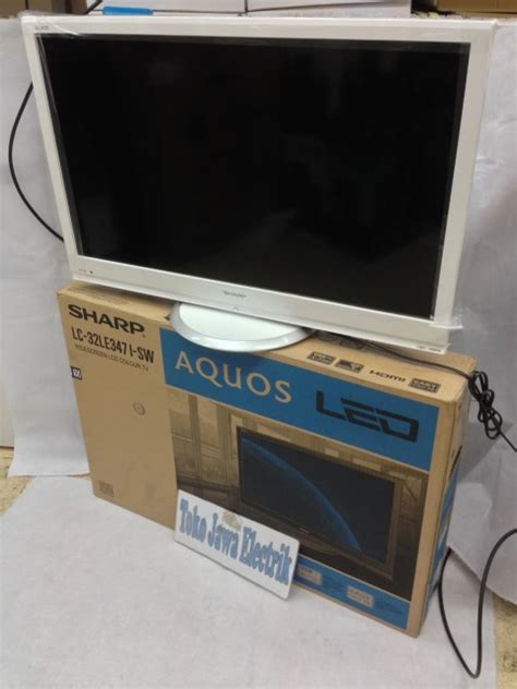 jual led tv sharp aquos 32 warna putih limited edition toko jawa e