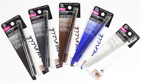 Maybelline Waterproof Eyeliner Pencil maybelline lasting drama waterproof gel pencil swatches