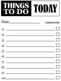 to do list template free free to do list