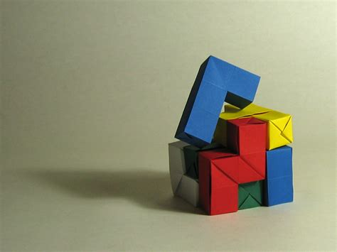 Soma Cube Origami - origami modular and puzzles la papeterie cr 233 ative