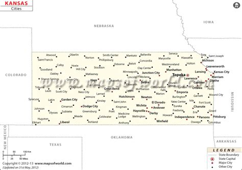 kansas city map of usa cities in kansas kansas cities map