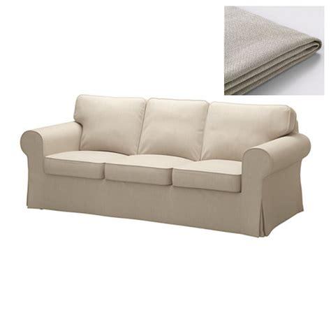Ikea Ektorp 3 Seater Sofa Covers by Ikea Ektorp 3 Seat Sofa Cover Slipcover Nordvalla Beige