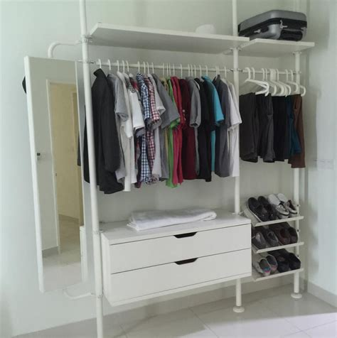 ikea open closet 20 inspirations of open wardrobe ikea