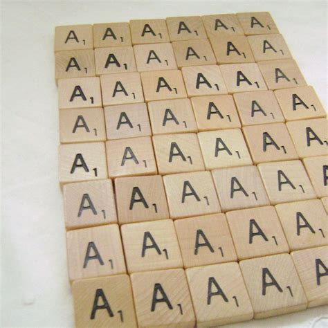 vintage scrabble tiles vintage wooden scrabble tiles 48 for scrapbooking or crafts