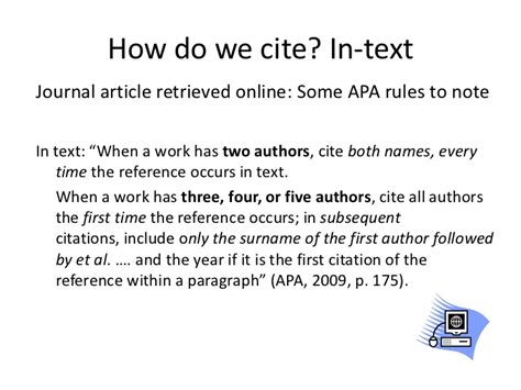 Article Title In Essay Apa by How To Cite Article Apa
