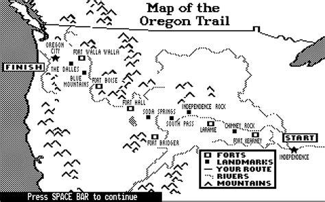 map of oregon trail 1850 american oregon trail 1850