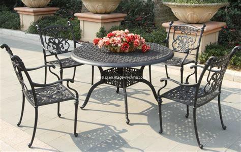 meuble jardin metal meubles ext 233 rieurs r 233 gl 233 s de patio de jardin en m 233 tal de fonte d aluminium meubles ext 233 rieurs