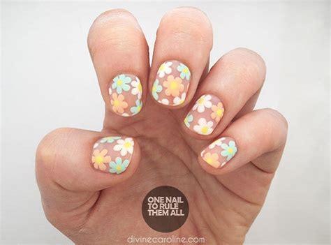 nail art negative space tutorial 70 unhas decoradas com flores tutoriais passo a passo