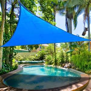 backyard sail canopy 16 5 triangle outdoor sun shade sail canopy blue thelashop