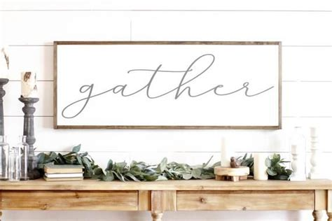 gather sign gather wood sign dining room sign large