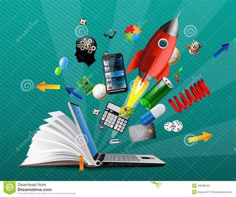 knowledge base stock vector illustration  market