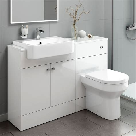 Vanity Bathroom Unit Designer Gloss White Basin Sink Bathroom Vanity Unit Furniture Storage Cabinet 163 74 99