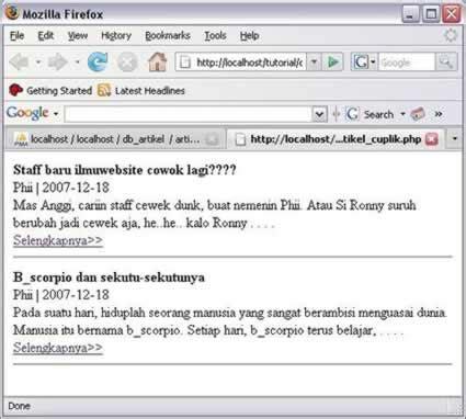 cara membuat cuplikan artikel dengan php membuat cuplikan artikel tutorial php