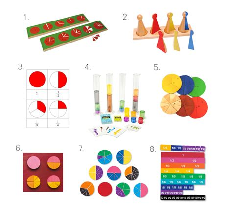 Montessori Fraction learning fractions ideas for home and school how we