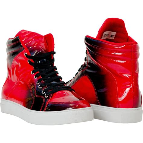 High Top Sneakers spike patent leather high top sneakers paolo shoes