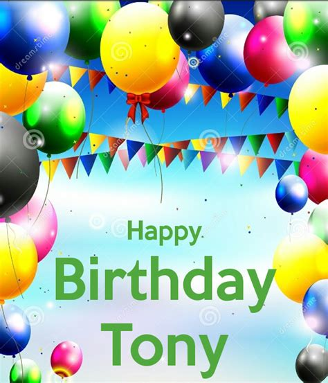 Imagenes De Happy Birthday Tony | happy birthday tony poster cardoso keep calm o matic