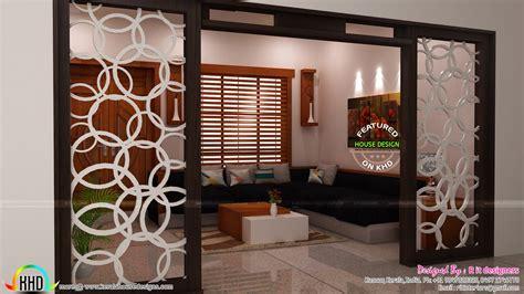 modular kitchen living  dining interiors kerala home