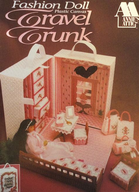 fashion doll travel trunk fashion doll travel trunk plastic canvas pattern by