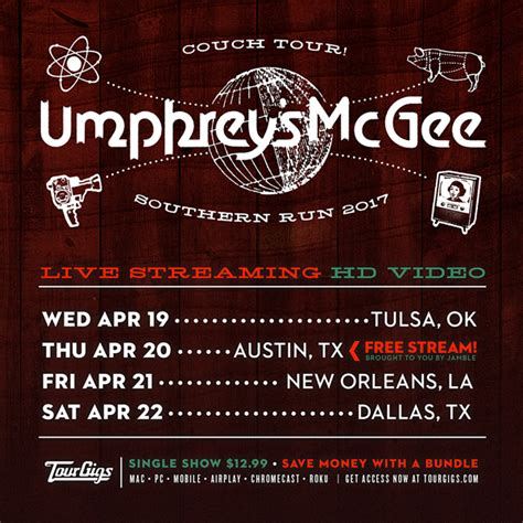 umphreys couch tour couch tour this week free tonight umphrey s mcgee