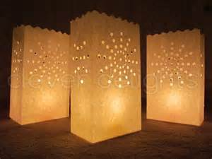 And event decor flame resistant paper luminaria fifty bags