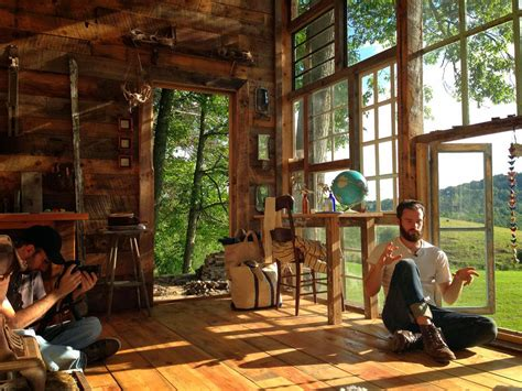 Moon to Moon: The Glass House .. A Handmade Cabin made of Windows