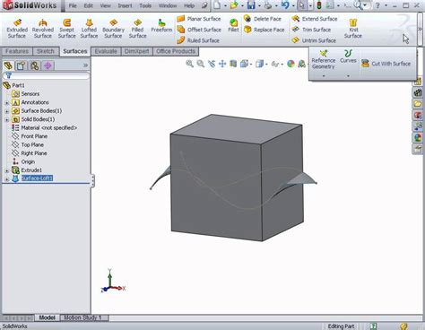 tutorial solidworks 2012 solidworks tutorial solidworks 2012 surface design the