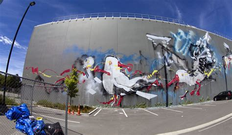 nz painting festival artists painting the town technicolour stuff co nz