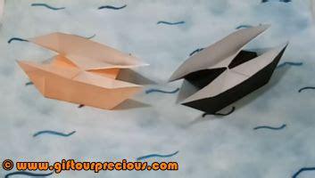 origami twin boat video origami twin boat gift our precious
